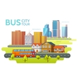 Colorful Sightseeing Tour Template vector image