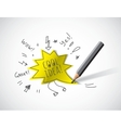 Cool idea doodles draw and shadow vector image