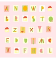 Hand Drawn Trendy Alphabet on pink background vector image