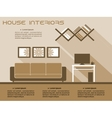 Living room interior infographic template vector image