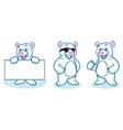 Polar Bear Mascot happy vector image