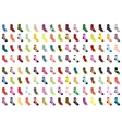 Socks big set icons Socks collection flat design vector image