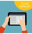 Using Social Network Concept Flat vector image