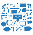 set of hand drawn arrows and cartoon design vector image vector image