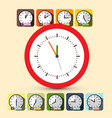 Clock set five to twelve vector image