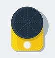 baseball cap flat icon with shadow vector image