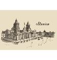 Mexico City Metropolitan Cathedral sketch vector image
