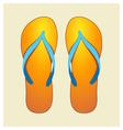 orange flip-flops vector image
