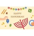 symbols of hanukkah celebration icons set vector image