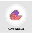 Camping mat Flat Icon vector image vector image