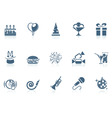 Birthday icons |piccolo series vector image