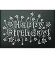 Blackboard with Happy Birthday vector image