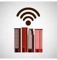 city downtown wifi connection design vector image