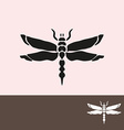 dragonfly symbol vector image