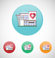 Hospital Building Icons vector image