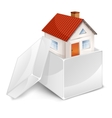 House in box symbol vector image