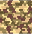 Military romantic seamless pattern of heart khaki vector image