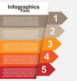 ribbon infographics image vector image