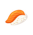 sashimi with salmon icon vector image