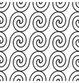 seamless pattern monochrome wave vector image