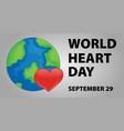 world heart day poster design vector image