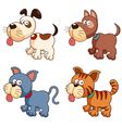 Dog and cat vector image vector image