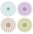 Set of Color Guilloche Rosettes vector image vector image