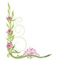 Lotus flower border vector image