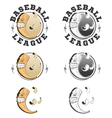 Set of baseball labels and badges vector image