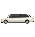White limousine on white background vector image