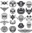 Set of biker labels and emblems vector image