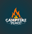 color campfire place sign template vector image