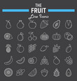 fruit line icon set food symbols collection vector image