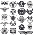 Set of biker labels and emblems vector image