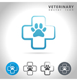 veterinary icon set vector image