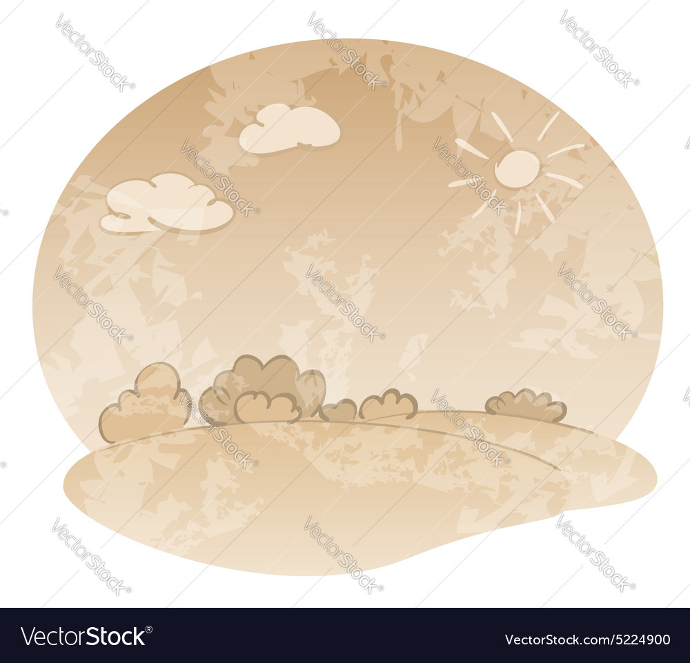 Grungy landscape in beige colors vector