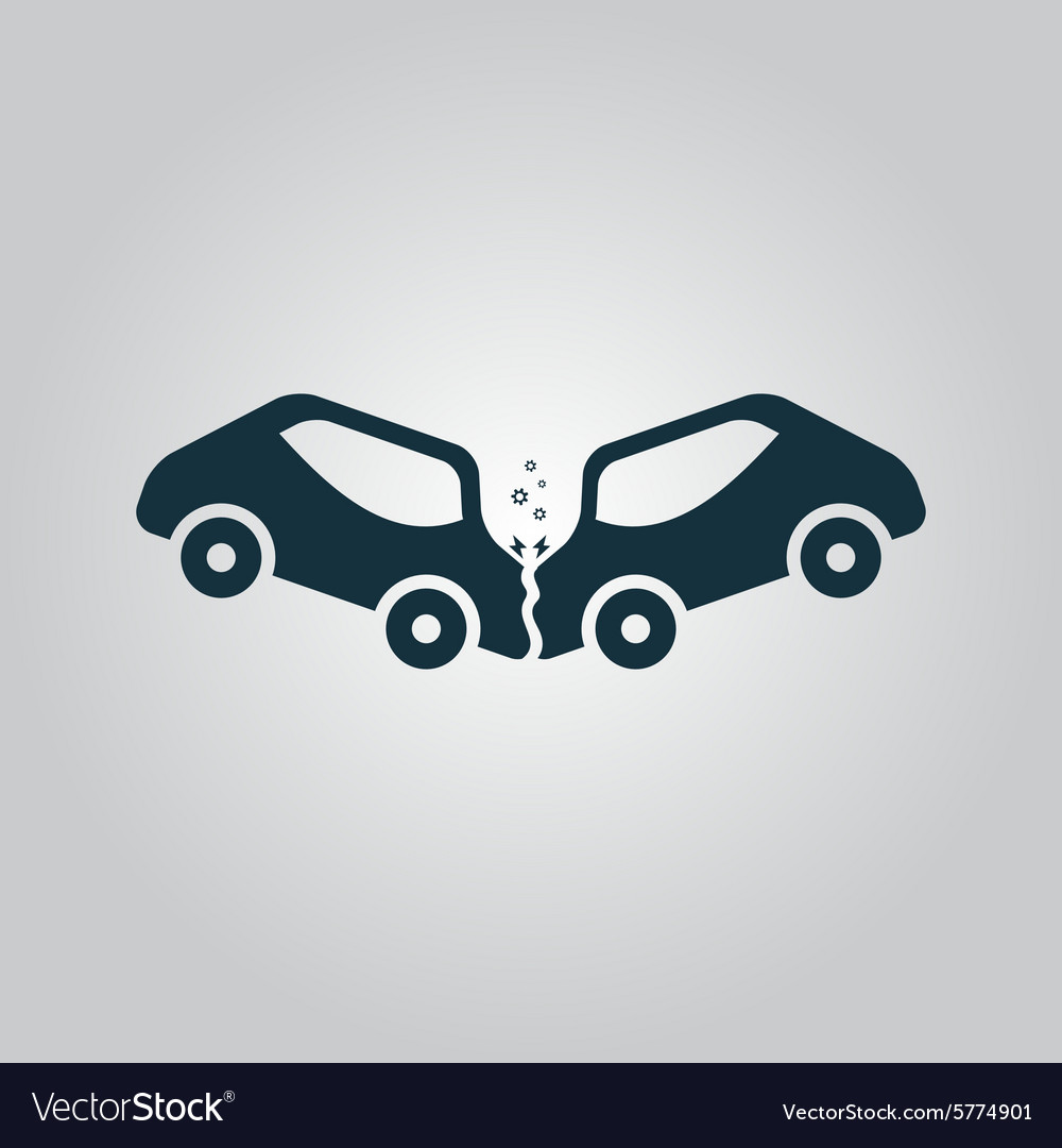 Car crash and accidents icon vector