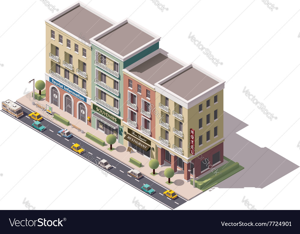 Isometric town street vector