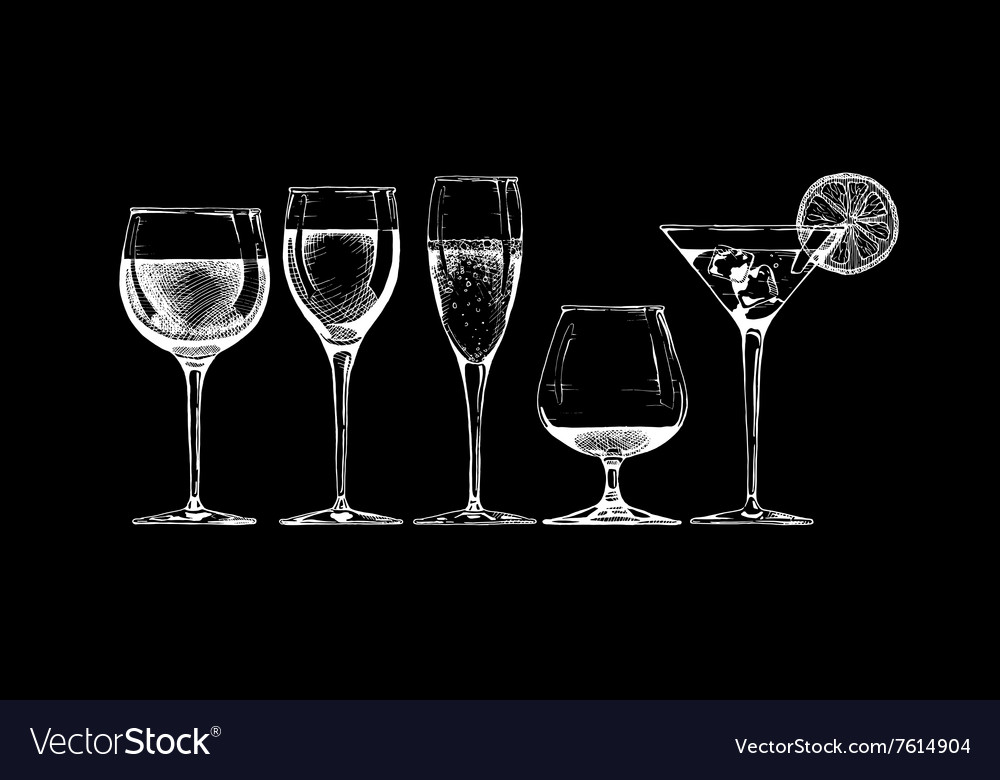 Goblet set vector