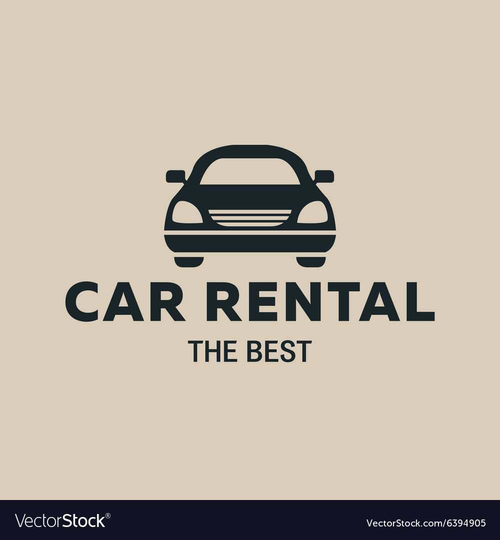 Best car rent logo icon strong vector