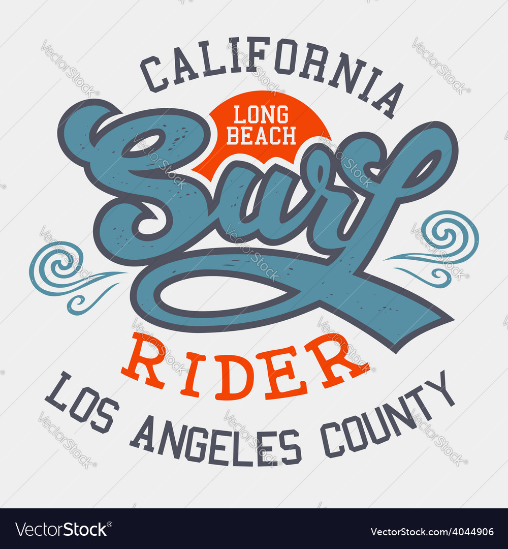 Surf rider california vector