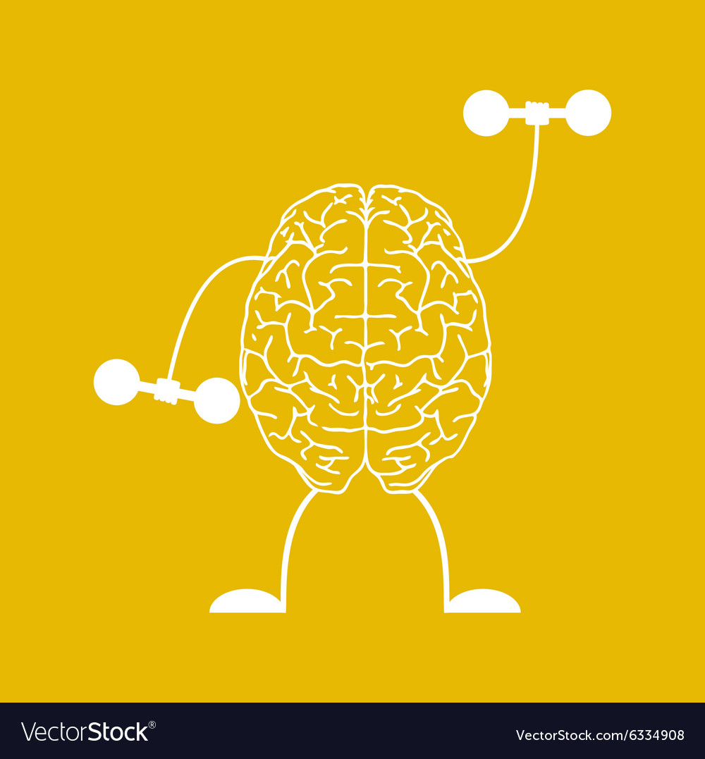Train your brain vector