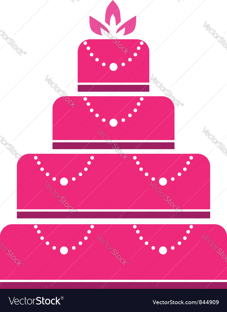 Cake wedding vector