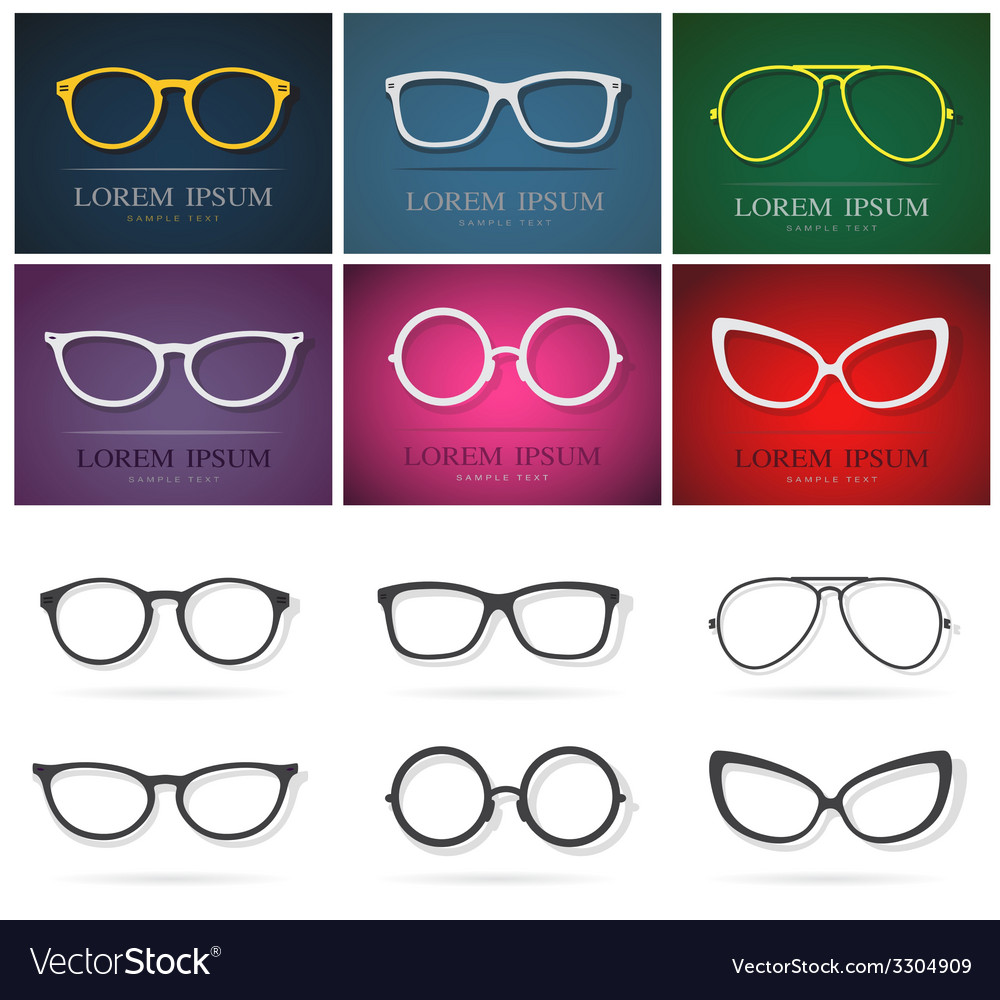 Glasses group vector
