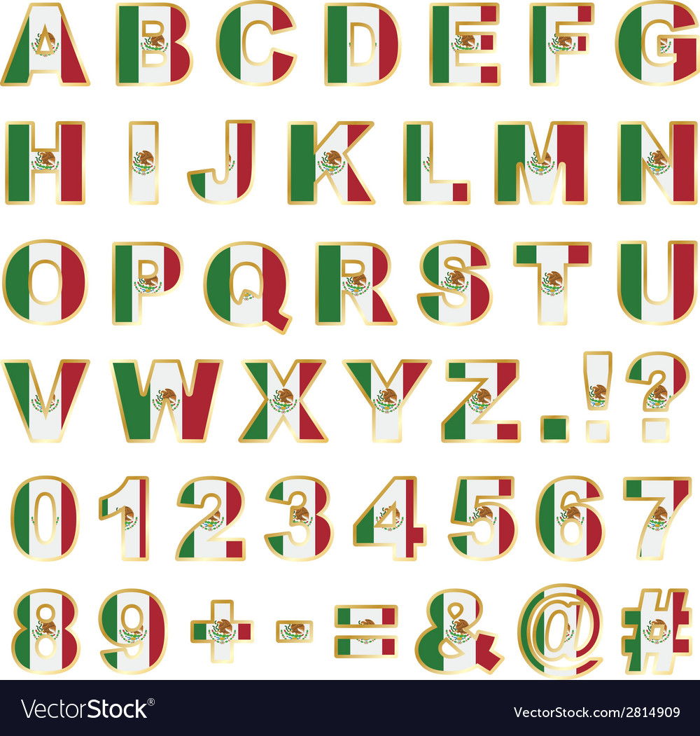 Mexico alphabet vector