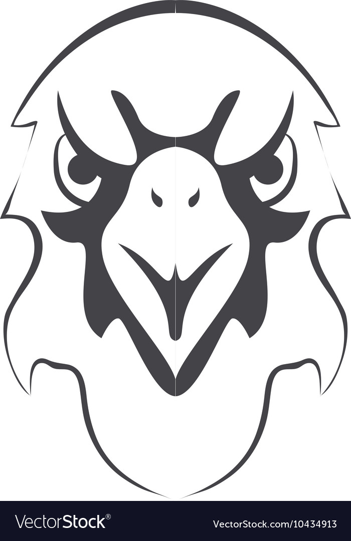 Eagle emblem icon vector