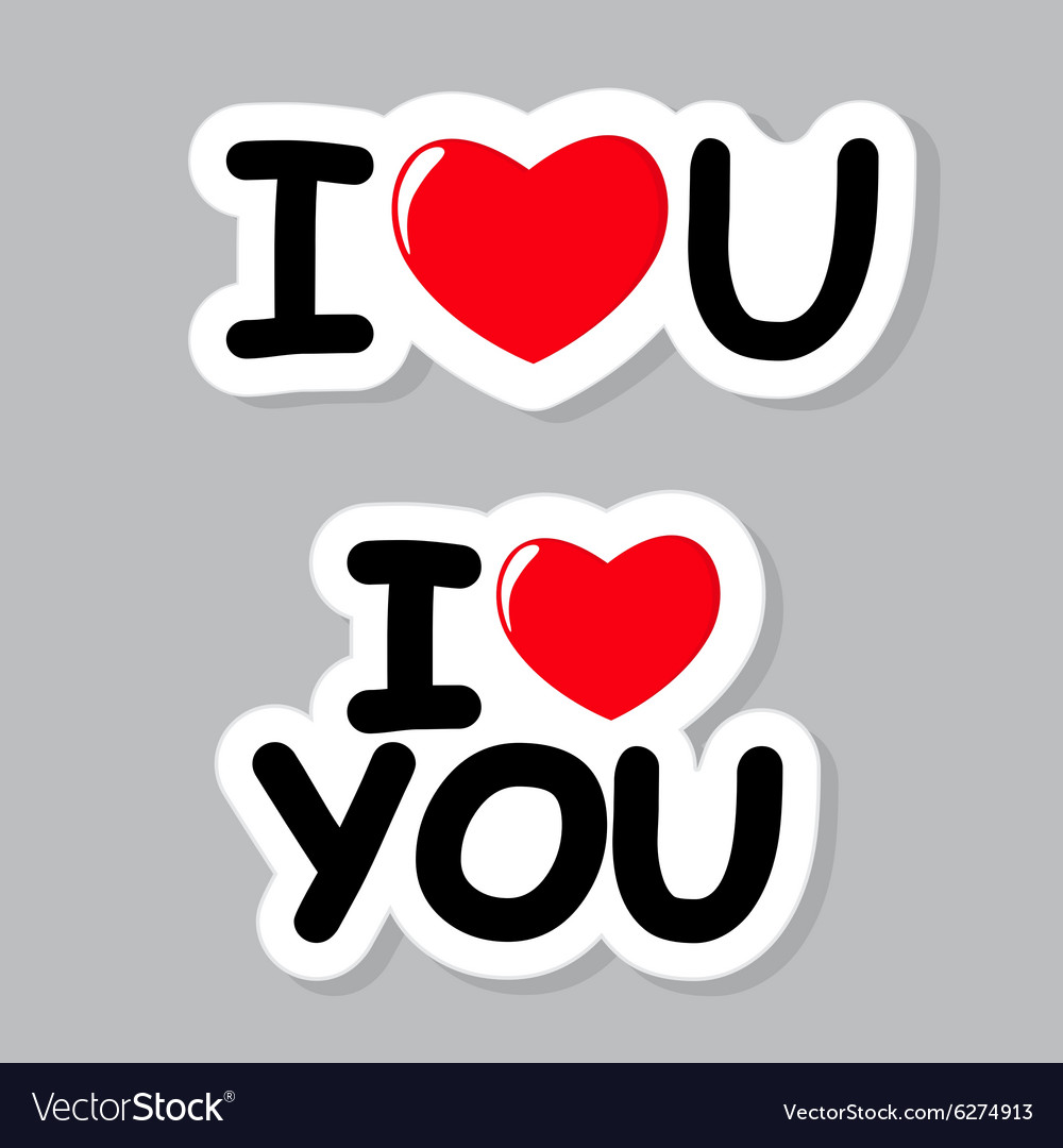 I love you sticker vector