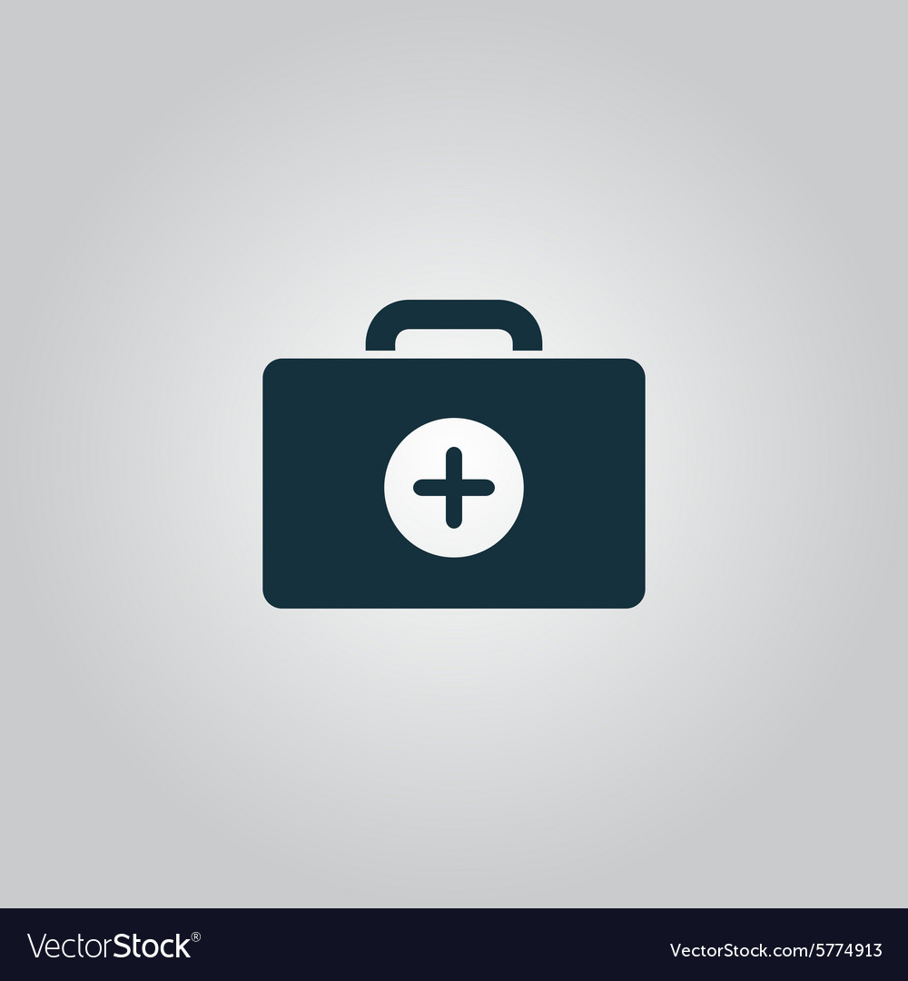 Medical box modern flat icon vector