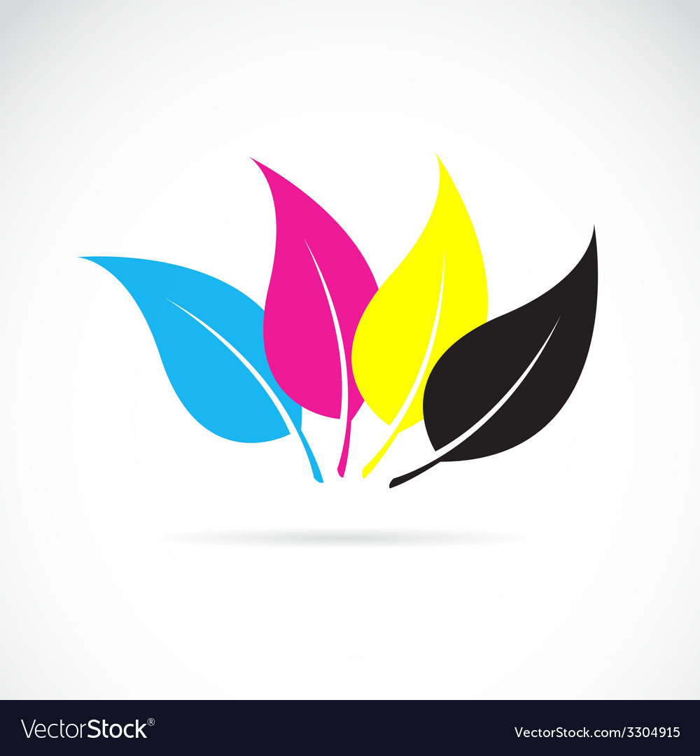 Leaves cmyk vector