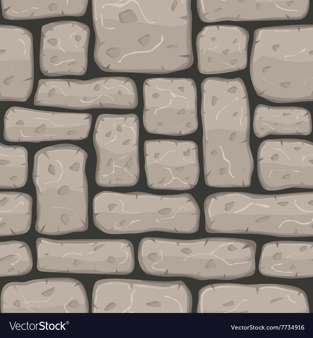 Seamless cartoon stone texture vector